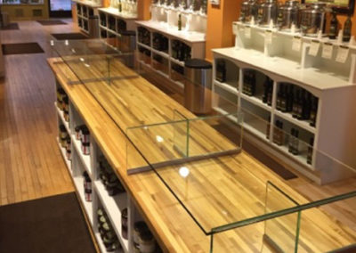 Retail - Glass Sneeze Guard installation in Traverse City, MI