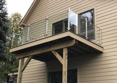 Exterior Glass Deck Railing