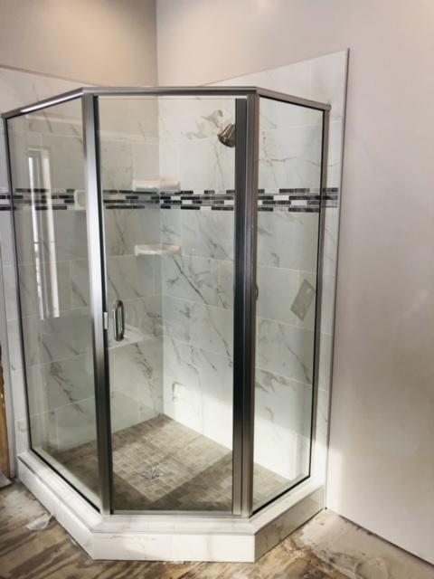 Framed neo angle shower