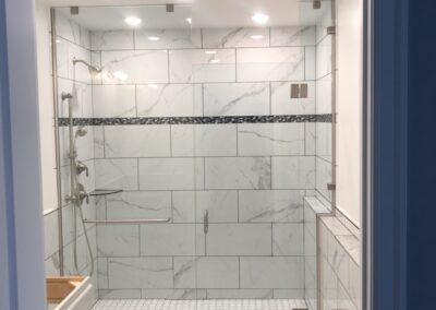 Handicap shower door